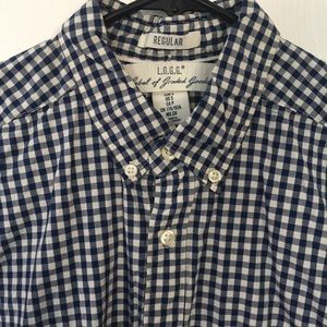 H&M Plaid button up